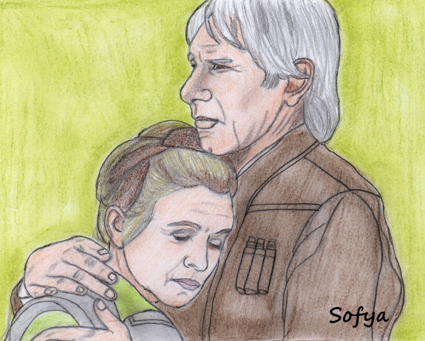 Carrie Fisher, Harrison Ford by Sofya
